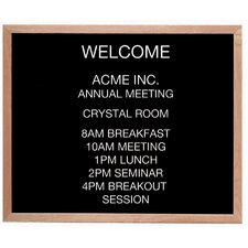 <strong>AARCO</strong> Framed Letter Board Message Center