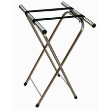 Chrome Folding Luggage Stand