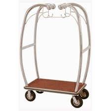 "Curved Bellman's 73"" Luggage Cart"