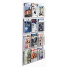 Clear-Vu 12 Pocket Magazine and Literature Display