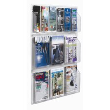 Clear-Vu 12 Pocket Combination Pamphlet and Magazine Display