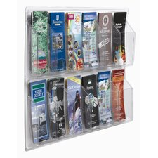 Clear-Vu 12 Pocket Pamphlet Display