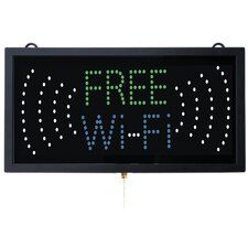 High Visibility LED Free WI-FI Sign