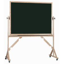 Reversible Free Standing Black Chalkboard with Aluminum Trim
