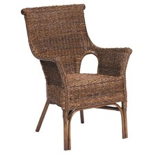 Banana Leaf and Rattan Chair