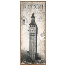Natural Jute Canvas Art with 'London' Design
