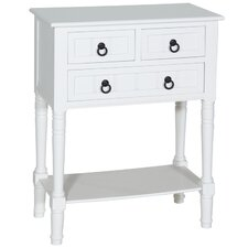 3 Drawer 1 Shelf Console Table