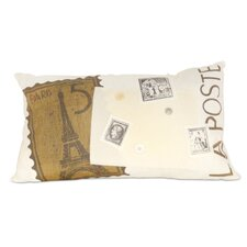 La Poste Paris Throw Pillow