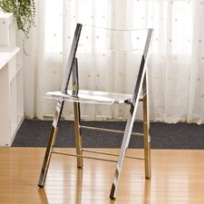 <strong>Fox Hill Trading</strong> Pure Décor Acrylic Folding Chair (Set of 2)