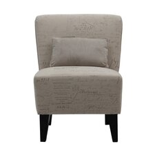 Langford Armless Side Chair with Pillow