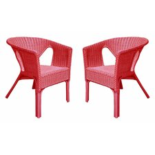 Rattan Living Wicker Dining Chair (Set of 2) (Set of 2)