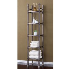 "Monte Carlo 14"" x 67"" Bathroom Tower Shelf"