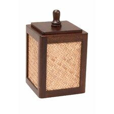 Woven Rattan Cotton Swab Holder