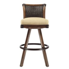 Lucca Swivel Bar Stool with Cushion