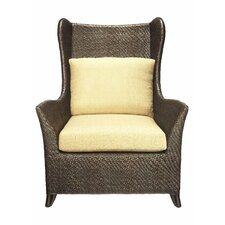 <strong>Selamat</strong> Riva Fabric Hourglass Weave Bergere Chair