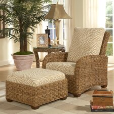 Martinique Chair and Ottoman