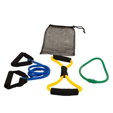 4 Piece Stretch Cord Fitness Set