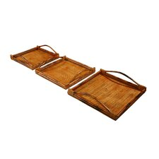 Timeless Square Serving Tray (Set of 3)