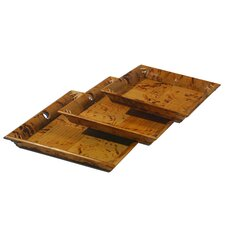 Timeless Square Nested Serving Tray (Set of 3)