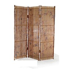 "71"" x 63"" Coastal Chic 3 Panel Room Divider"