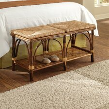 <strong>Kenian</strong> Coastal Chic Rattan Bedroom Bench