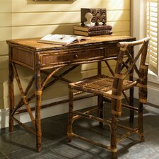 <strong>Kenian</strong> Coastal Chic English Desk with Chair Set