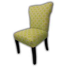 Bella Citrus Wingback Cotton Slipper Chair (Set of 2)