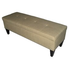 Brooke Upholstered Storage Bench in Sand