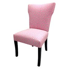 Pinky Chain Wingback Cotton Slipper Chairs (Set of 2)