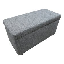 Tufted Cotton Storage Ottoman