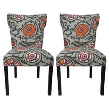 <strong>Sole Designs</strong> Willard Cotton Wingback Cotton Slipper Chair (Set of 2)
