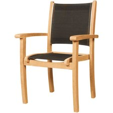 <strong>HiTeak Furniture</strong> Stacking Armchair with Textilene