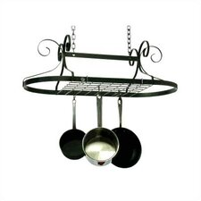 Decor Oval Ceiling Mount Pot Rack Knock-Down Version