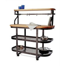 Kitchen Cart Base with Wood Top