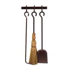 Retrofit 4 Piece Steel Fireplace Tool Set