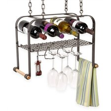 <strong>Enclume</strong> 4 Bottle Hanging Wine Rack