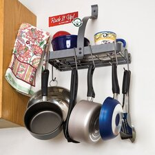 RACK IT UP! Accessory Shelf Wall Mounted Pot Rack