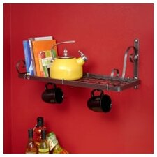 Decor Bookshelf Wall Mounted Pot Rack