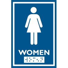 Female Symbol Comes with Braille Emboss