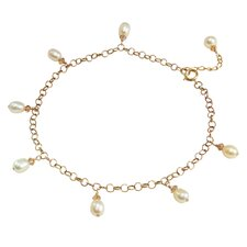 Cultured Pearl Chinese Love Anklet