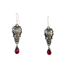Vase Rhodolite Drop Earrings
