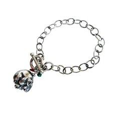 Mouse Gemstone Charm Bracelet