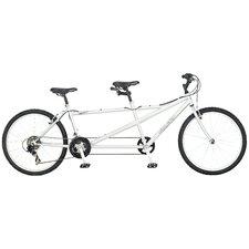 Dualie Tandem Bike in Silver
