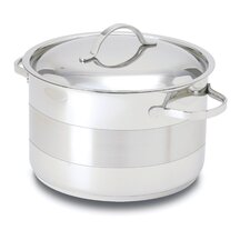 Gourmet 7-qt. Stainless Steel Round Dutch Oven