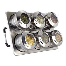 Spice Jar with Magnetic Base (Set of 6)
