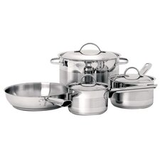 Gourmet 3-Ply Stainless Steel 7-Piece Cookware Set