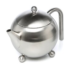 30 Oz Footed Teapot with Infuser in Satin