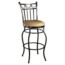 "Camelot II 26"" Swivel Bar Stool with Cushion"