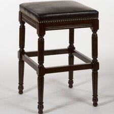 Kayne Wood Backless Non-Swivel Counter Stool