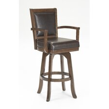 "Ambassador 30"" Swivel Bar Stool with Cushion"